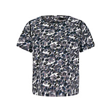 Buy Oui Printed Top, Dark Blue/Grey Online at johnlewis.com