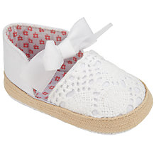 Buy John Lewis Crochet Espadrilles, White Online at johnlewis.com