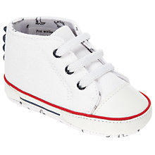 Buy John Lewis Baby Dinosaur Baseball Boots, White Online at johnlewis.com