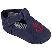 Buy John Lewis Baby Anchor T-Bar Shoes, Navy Online at johnlewis.com