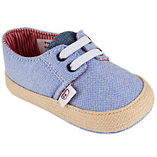 Buy John Lewis Baby Linen Espadrilles, Blue Online at johnlewis.com
