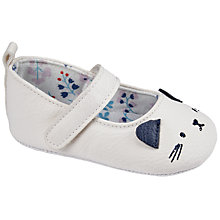 Buy John Lewis Baby Cat Detail Booties, Cream Online at johnlewis.com