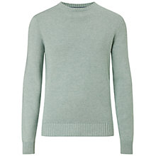 Buy Hackett London Garment Dye Crew Neck Jumper, Mint Online at johnlewis.com