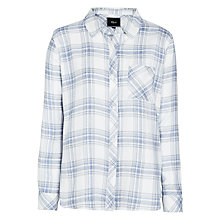 Buy Rails Hunter Plaid Shirt, White/Blue Melange Online at johnlewis.com