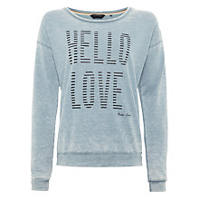 Buy Maison Scotch Burnout Artwork Print Sweatshirt Online at johnlewis.com