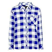 Buy Rails Hunter Plaid Shirt, Cobalt/White Online at johnlewis.com
