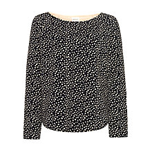 Buy Maison Scotch Quilted Fish Print Sweatshirt, Black Online at johnlewis.com