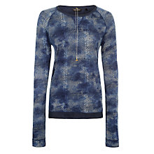 Buy Maison Scotch Delicate Print Top, Navy Online at johnlewis.com