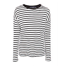 Buy Maison Scotch Breton Stripe Long Sleeve Top Online at johnlewis.com
