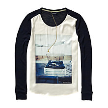 Buy Maison Scotch Photo Print Silk Front T-Shirt Online at johnlewis.com