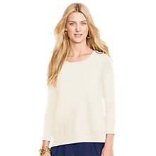 Buy Lauren Ralph Lauren Chailai 3/4 Sleeve Jumper, Modern Cream Online at johnlewis.com