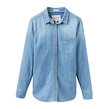 Buy Joules Corinne Light Chambray Shirt, Denim Blue Online at johnlewis.com