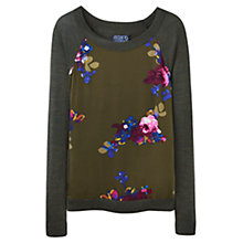Buy Joules Paloma Woven Front Jumper, Dark Pine Online at johnlewis.com