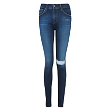 Buy AG The Farrah High Rise Skinny Jeans, Paradox Destroyed Online at johnlewis.com