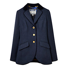 Buy Joules Tweed Blazer, Navy Online at johnlewis.com