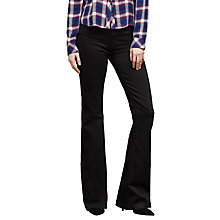Buy J Brand Maria High Rise Flared Jeans, Seriously Black Online at johnlewis.com