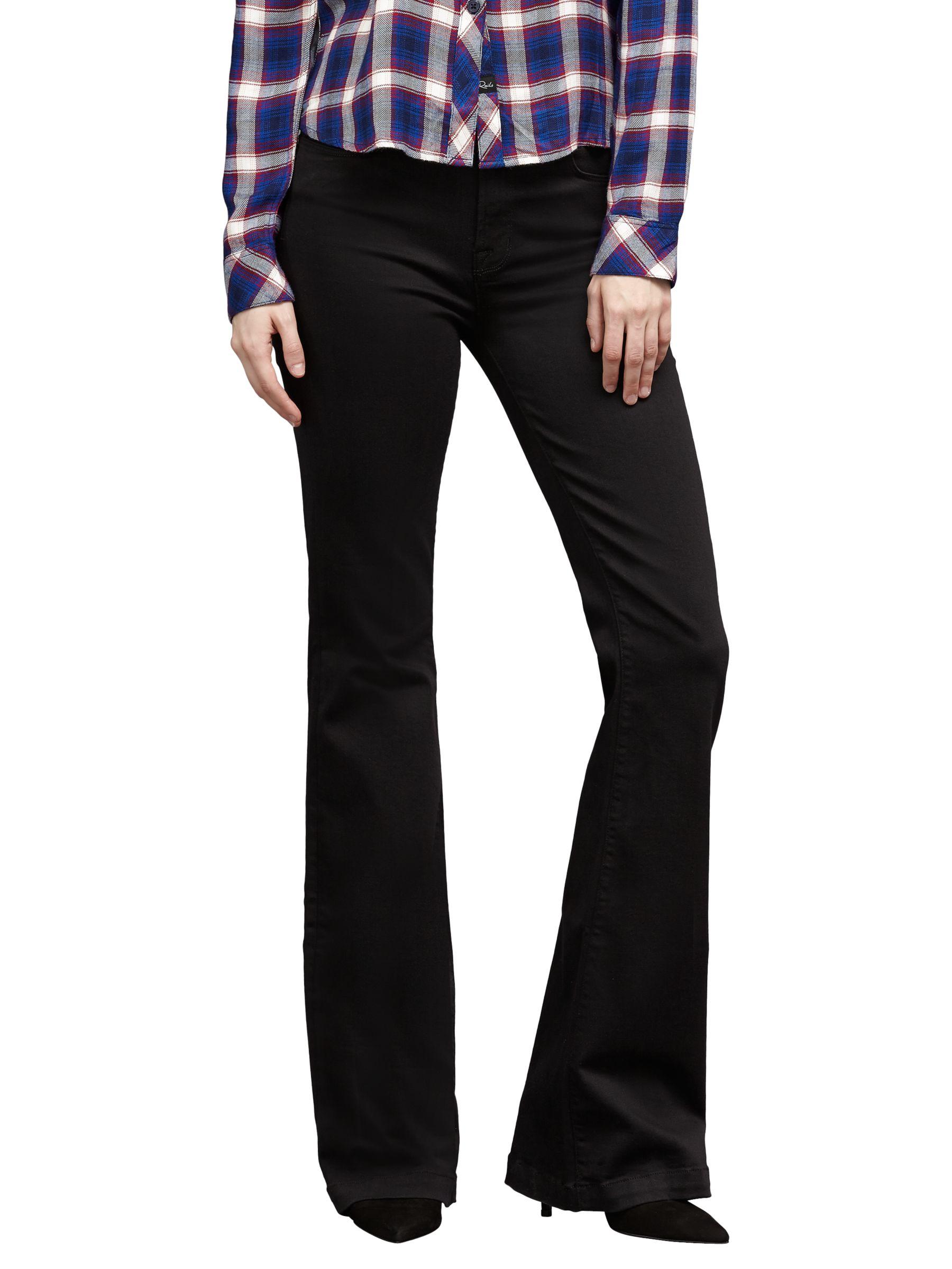 J Brand J Brand Maria High Rise Flared Jeans, Seriously Black