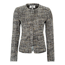 Buy Helene For Denim Wardrobe Concealed Zip Jacket, Meryl Tweed Natural Online at johnlewis.com