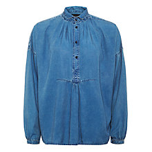 Buy Maison Scotch Drapey Tunic Top, Indigo Online at johnlewis.com