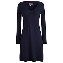 Buy Joules Abigail Ribbed Knitted Dress, Navy Online at johnlewis.com