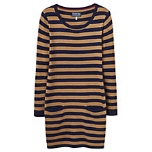 Buy Joules Stripe Knitted Tunic, Navy/Caramel Online at johnlewis.com
