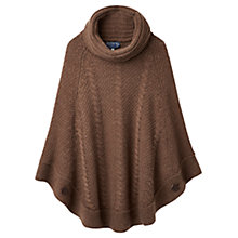 Buy Joules Tessa Cable Knit Poncho Online at johnlewis.com