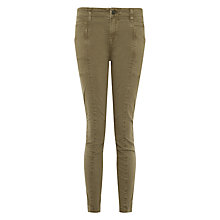 Buy J Brand Brynes Skinny Cargo Trousers, Chrome Online at johnlewis.com