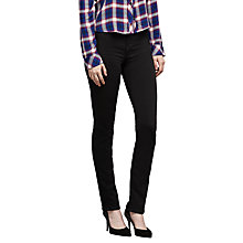Buy J Brand Maria High Rise Straight Jeans, Seriously Black Online at johnlewis.com