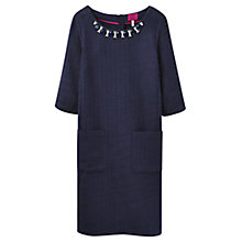 Buy Joules Embellished Shift Dress, Navy Online at johnlewis.com