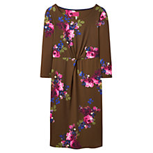 Buy Joules Floral Printed Jersey Dress, Dark Pine Floral Online at johnlewis.com