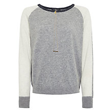 Buy Maison Scotch Colour Block Jumper, Grey Melange Online at johnlewis.com