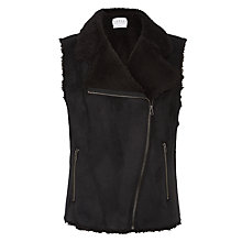 Buy Velvet Anila Shearling Vest, Black Online at johnlewis.com