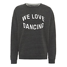Buy Maison Scotch Oversized Print Sweatshirt, Antra Melange Online at johnlewis.com