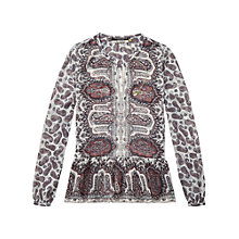 Buy Maison Scotch Printed Peplum Blouse, Multi Online at johnlewis.com