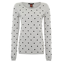 Buy Maison Scotch Spot Print Jumper, Grey Online at johnlewis.com