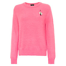 Buy Maison Scotch Fluffy Yarn Jumper, Bubblegum Online at johnlewis.com