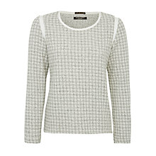 Buy Maison Scotch Jacquard Sweatshirt, Grey Online at johnlewis.com