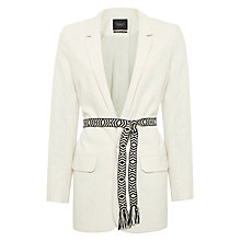 Buy Maison Scotch Boyfriend Blazer, Off White Melange Online at johnlewis.com