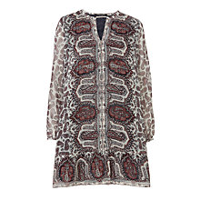 Buy Maison Scotch Printed Peplum Dress, Multi Online at johnlewis.com
