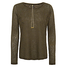 Buy Maison Scotch Burnout Long Sleeve T-Shirt With Necklace Online at johnlewis.com