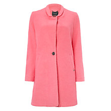 Buy Maison Scotch Single Breasted Coat, Bubblegum Online at johnlewis.com
