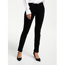 Buy AG The Corduroy Prima Skinny Jean, Super Black Online at johnlewis.com