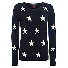 Buy Maison Scotch Star Print Jumper, Black Online at johnlewis.com