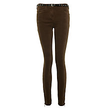 Buy Maison Scotch Skinny Moleskin Trousers, Moss Online at johnlewis.com