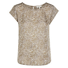 Buy Joie Rancher Short Sleeve Printed Blouse, Olive Online at johnlewis.com