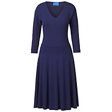 Buy Winser London Flared Jersey Dress, Moonlight Blue Online at johnlewis.com