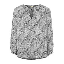 Buy Joie Pearline Printed Blouse, Smokey Crystal Online at johnlewis.com