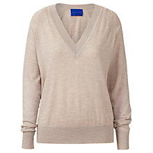 Buy Winser London Merino V-Neck Jumper, Mink Online at johnlewis.com