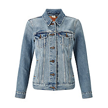 Buy Levi's Boyfriend Trucker Jacket, Blue Cliff Online at johnlewis.com