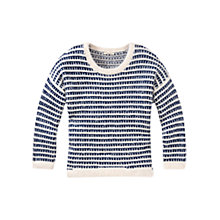 Buy Lee Stripe Patterned Boxy Jumper, Blue Depths Online at johnlewis.com
